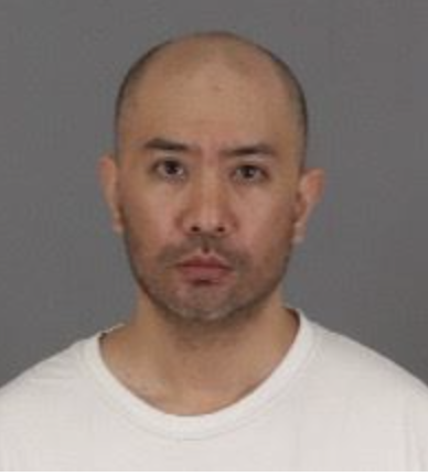 The Riverside County Sheriff's Department released a booking photo of Eric Saradpon, 42, on Oct. 14, 2020.