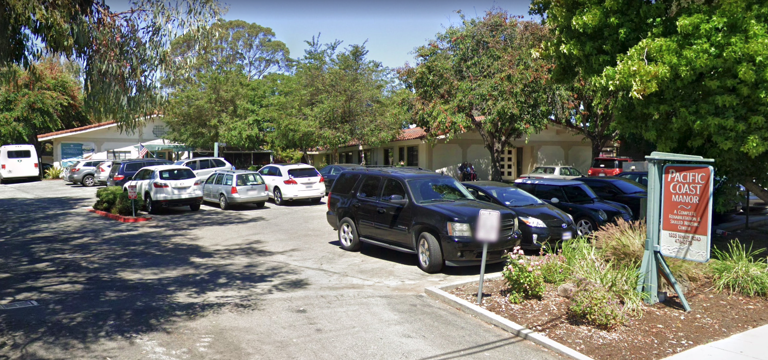 Pacific Coast Manor in Capitola, CA is seen in a Google Maps Street View image.