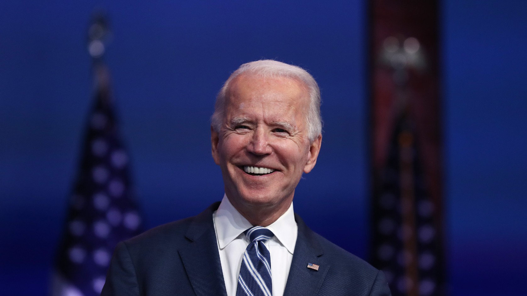 U.S. President-elect Joe Biden addresses the media about the Trump Administration's lawsuit to overturn the Affordable Care Act on November 10, 2020 at the Queen Theater in Wilmington, Delaware. (Joe Raedle/Getty Images)