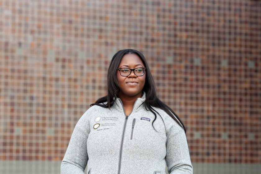 Jessica Bodden is a fourth-year medical student at Charles R. Drew University of Medicine and Science in Willowbrook. (Dania Maxwell/Los Angeles Times)