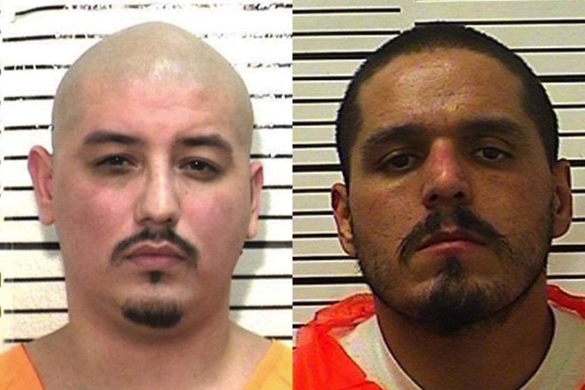 Martin Pachecho, left, is seen in a April 21, 2014 booking photo. Paul Solis, right, is seen in a booking photo from Nov. 10, 2020. (California Department of Corrections)