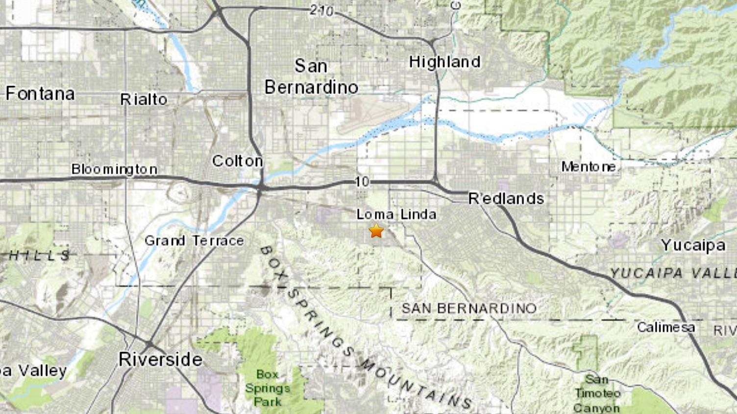 A 3.5 magnitude earthquake struck near Loma Linda on Nov. 16, 2020. (USGS)