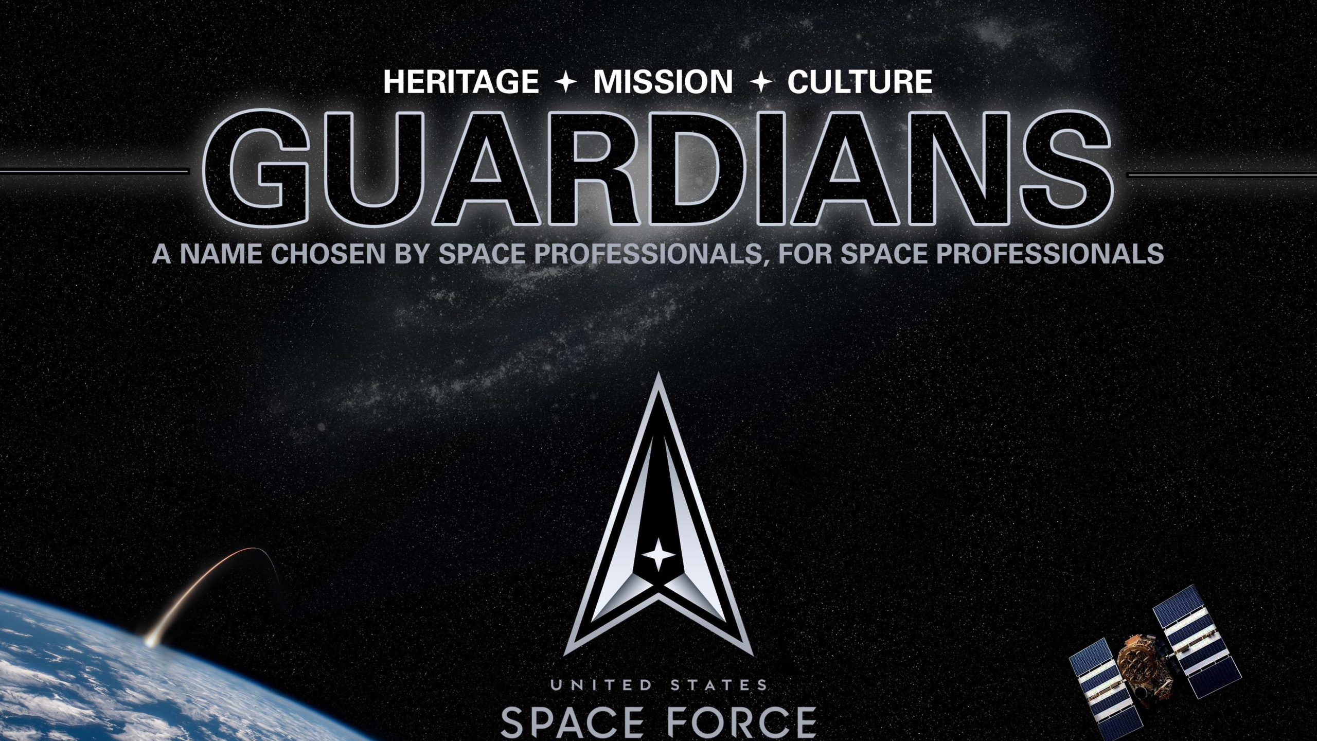 The U.S. Space Force tweeted an image with the new name of its space professionals, on Dec. 18, 2020.