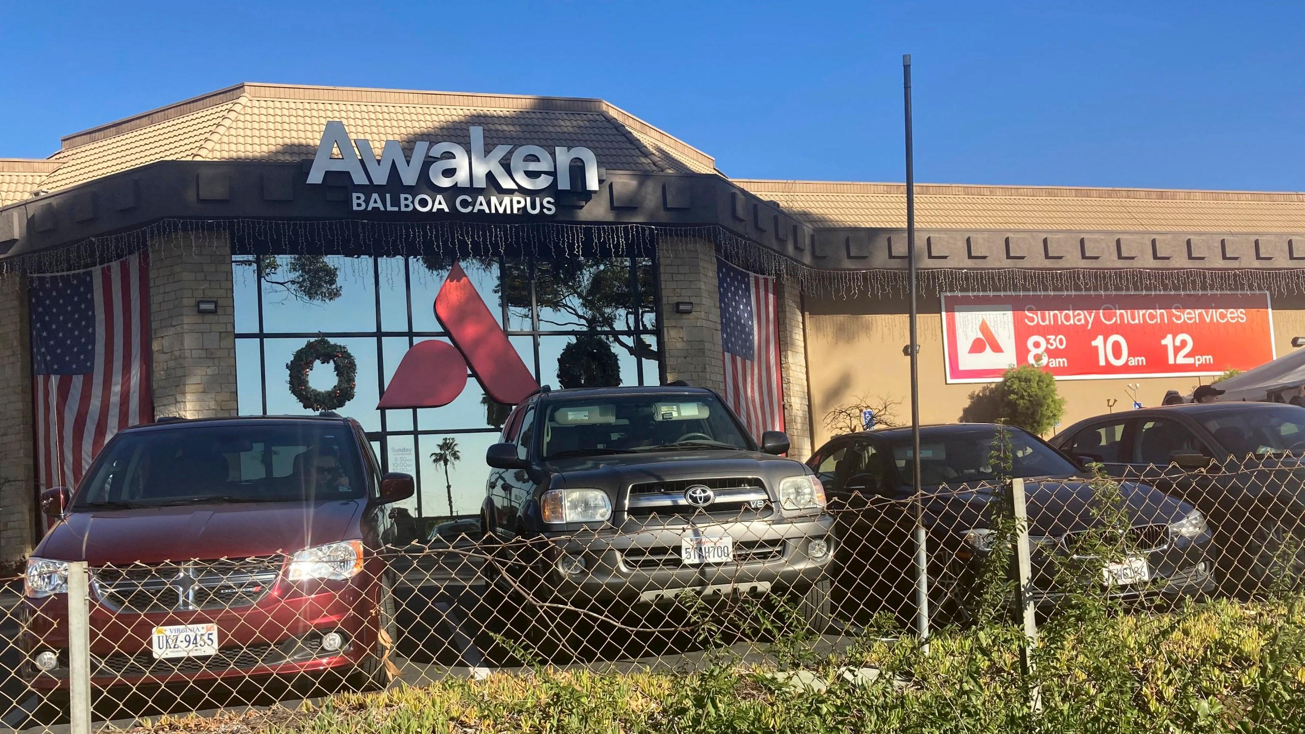 Awaken Church is seen on Dec. 3, 2020, in San Diego. (AP Photo/Elliot Spagat)