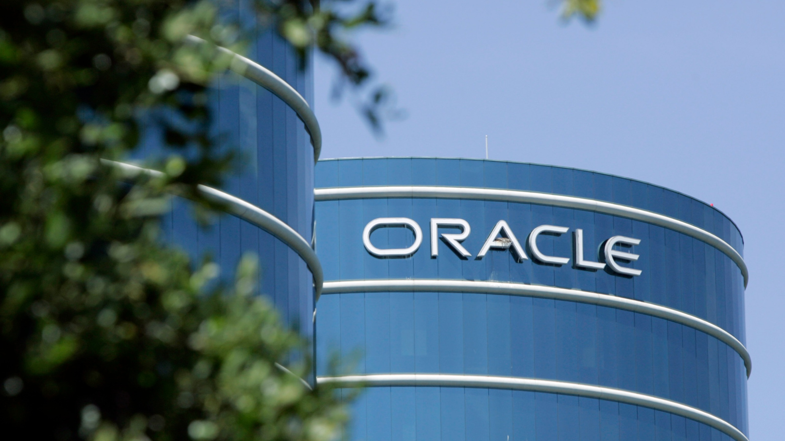 This June 26, 2007 file photo shows the exterior of Oracle Corp. headquarters in Redwood City, Calif. (Paul Sakuma/Associated Press)