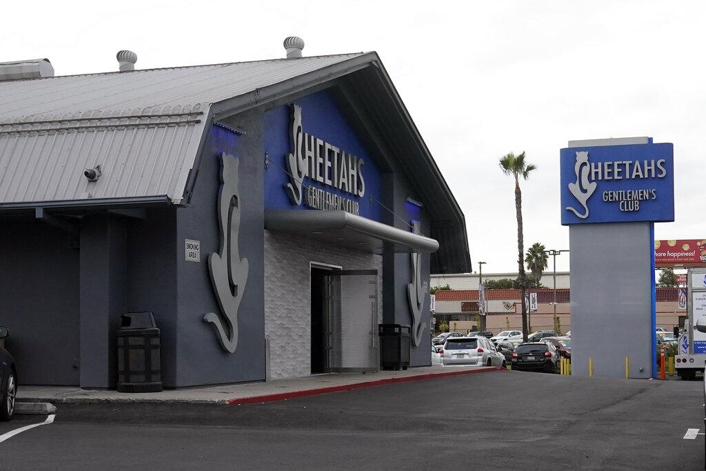 In this Dec. 10, 2020, file photo, Cheetahs Gentleman's Club is seen in San Diego. (AP Photo/Gregory Bull,File)