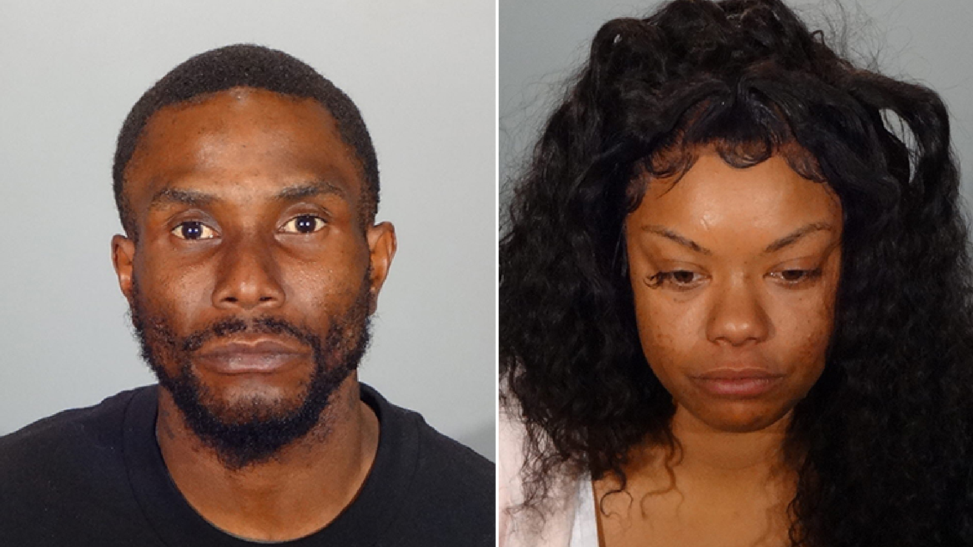 Stephan Morgan and Zenia West seen in undated photos shared by the Glendale Police Department on Dec.1, 2020.