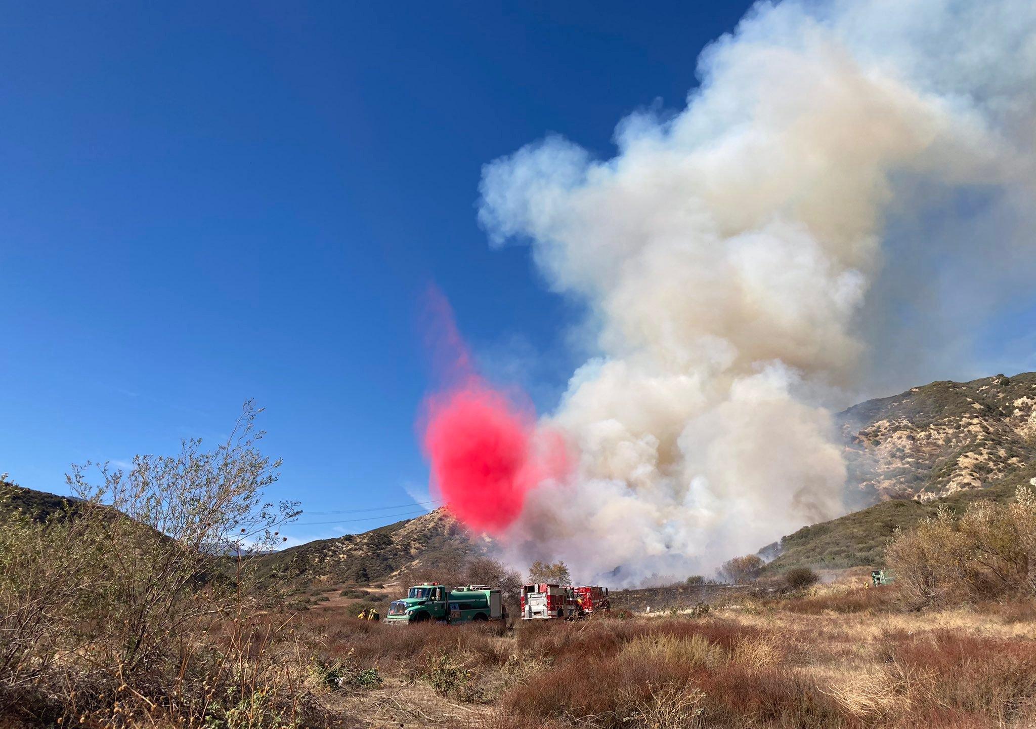 The Pitman Fire is seen on Dec. 26, 2020. (San Bernardino National Forest)