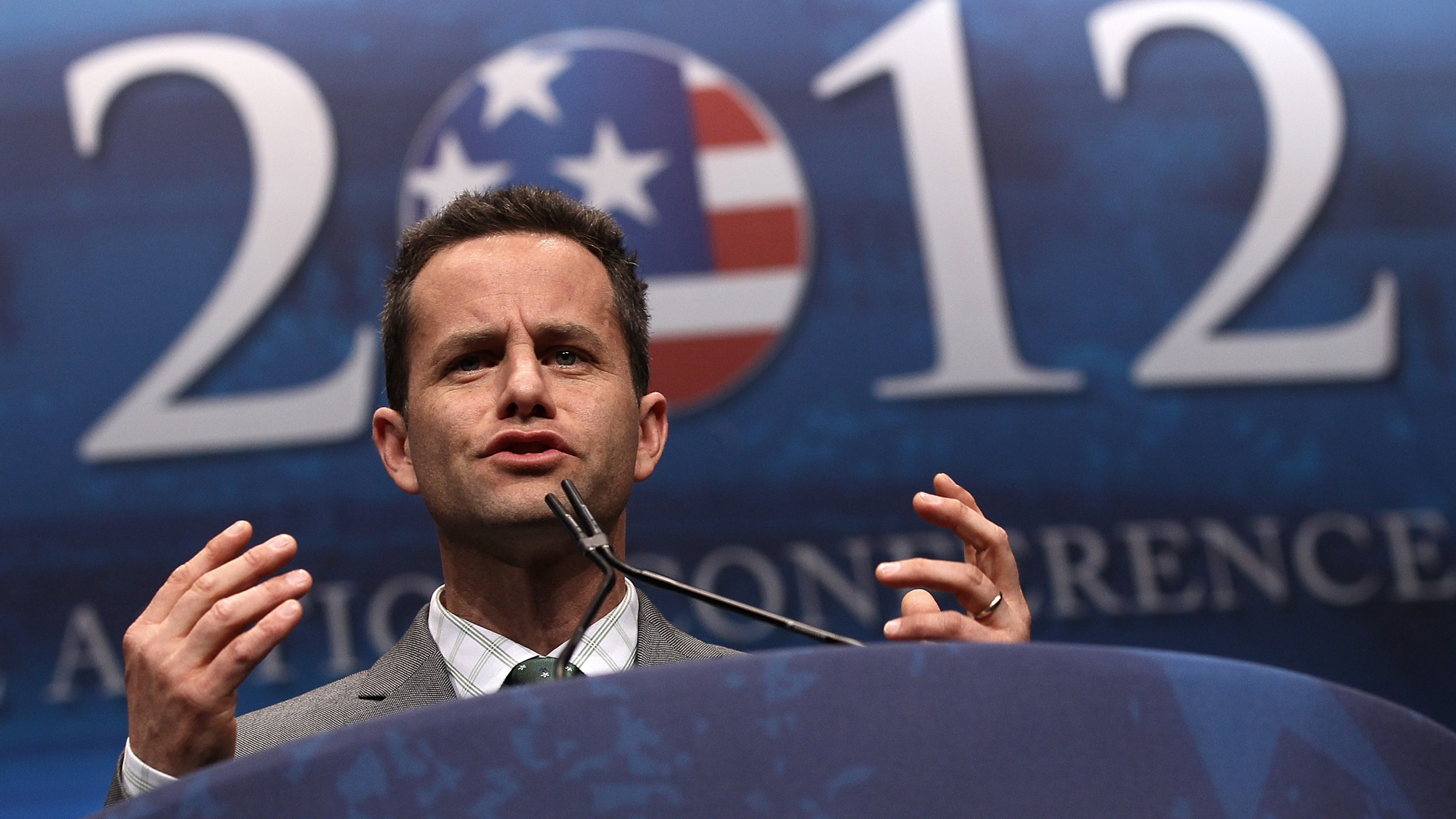 Actor Kirk Cameron speaks during the annual Conservative Political Action Conference on Feb. 9, 2012, n Washington, DC. (Win McNamee/Getty Images)