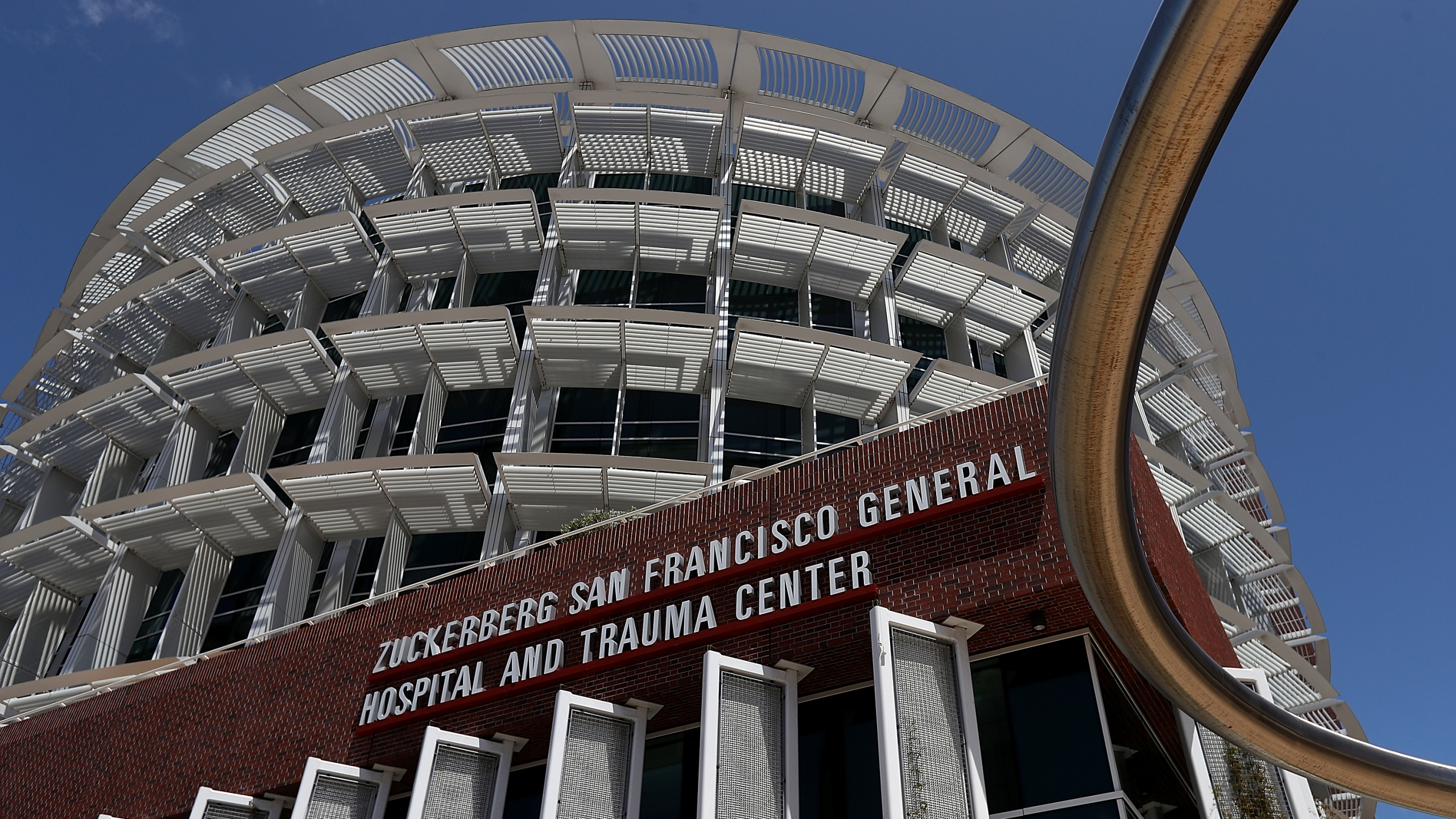 A view of the Zuckerberg San Francisco General Hospital and Trauma Center on May 16, 2018. (Credit: Justin Sullivan / Getty Images)
