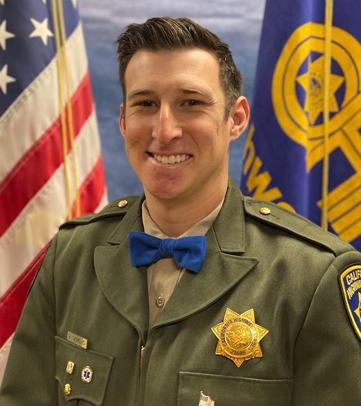 CHP Officer Andy Ornelas appears in a photo released by the agency on Dec. 2, 2020.