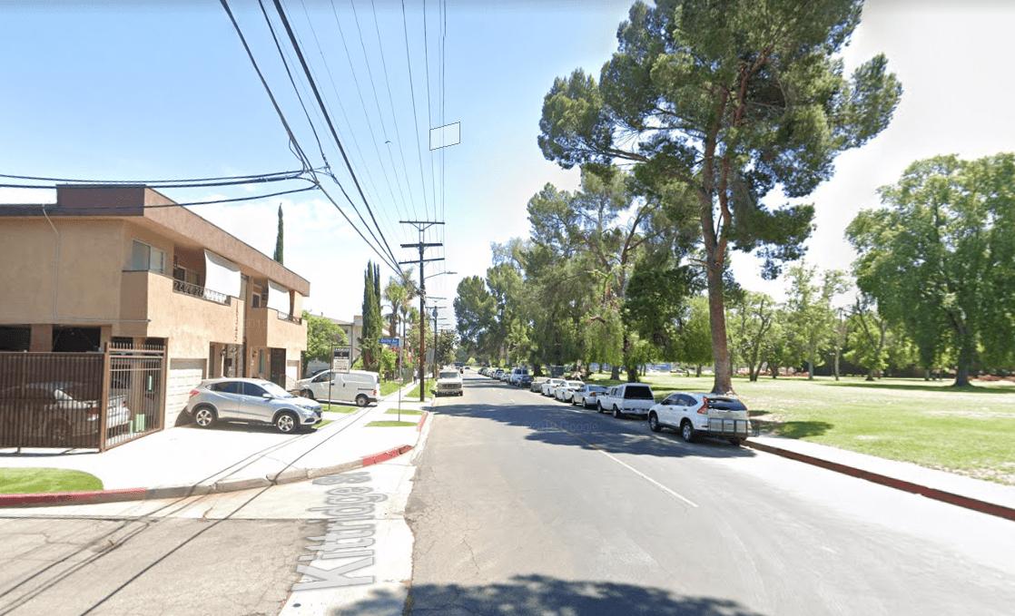 18400 block of Kittridge Avenue in Reseda在谷歌地图的街景图片中显示。(photo:KTLA)