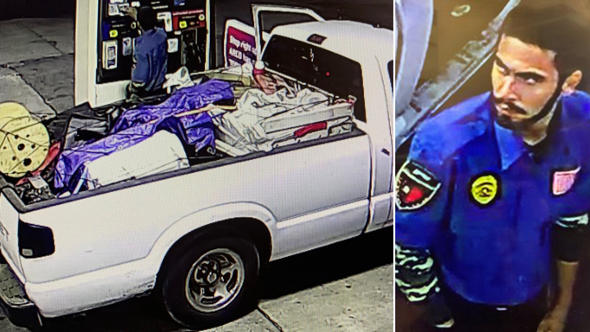 A vehicle and driver involved in a Boyle Heights hit-and-run crash are seen in photos provided by the LAPD on Dec. 31, 2020.