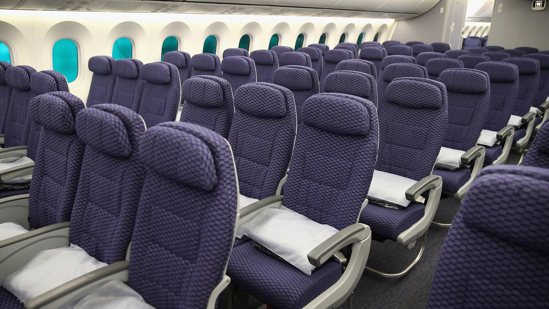 A file photo shows the cabin of an airplane. (Scott Olson/Getty Images)