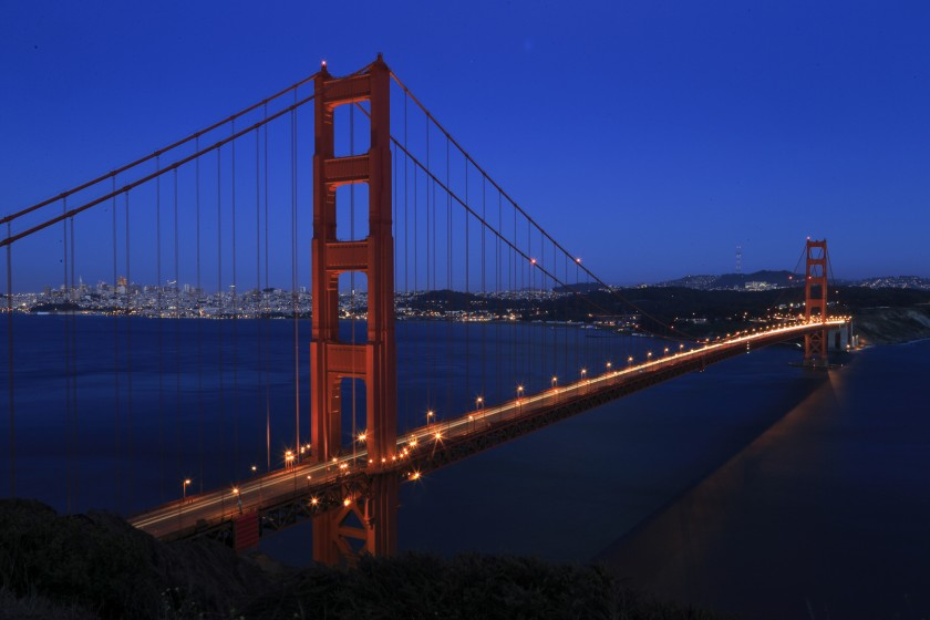 The Golden Gate Bridge is shown in an undated photo. (Mark Boster / Los Angeles Times)