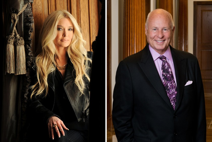 """Real Housewives of Beverly Hills"" star Erika Jayne, shown in 2016, is the wife of L.A. attorney Thomas Girardi, shown in an undated handout photo. (Los Angeles Times)"
