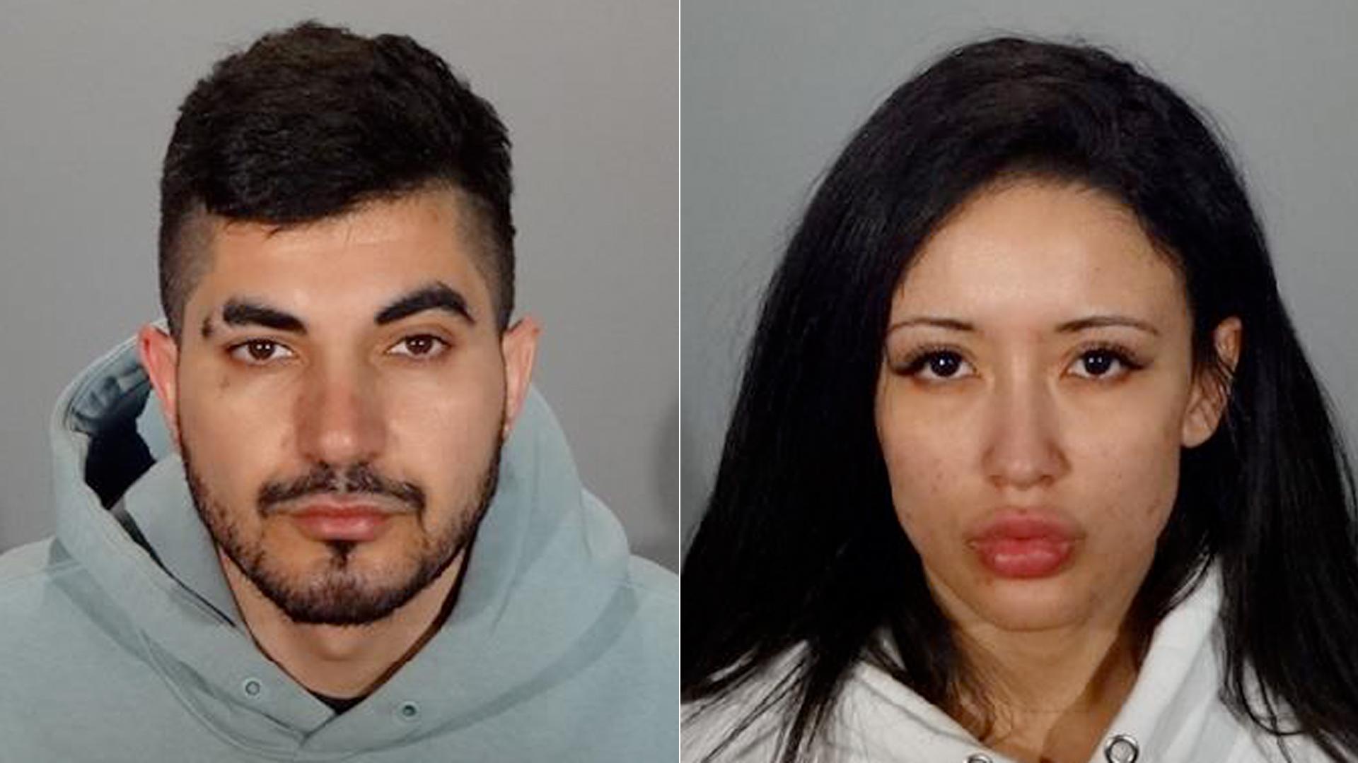 2020年12月22日,格伦代尔警察局发布的照片中,亨利-罗斯托米扬和伊莱娜-莱莫斯。(photo:KTLA)