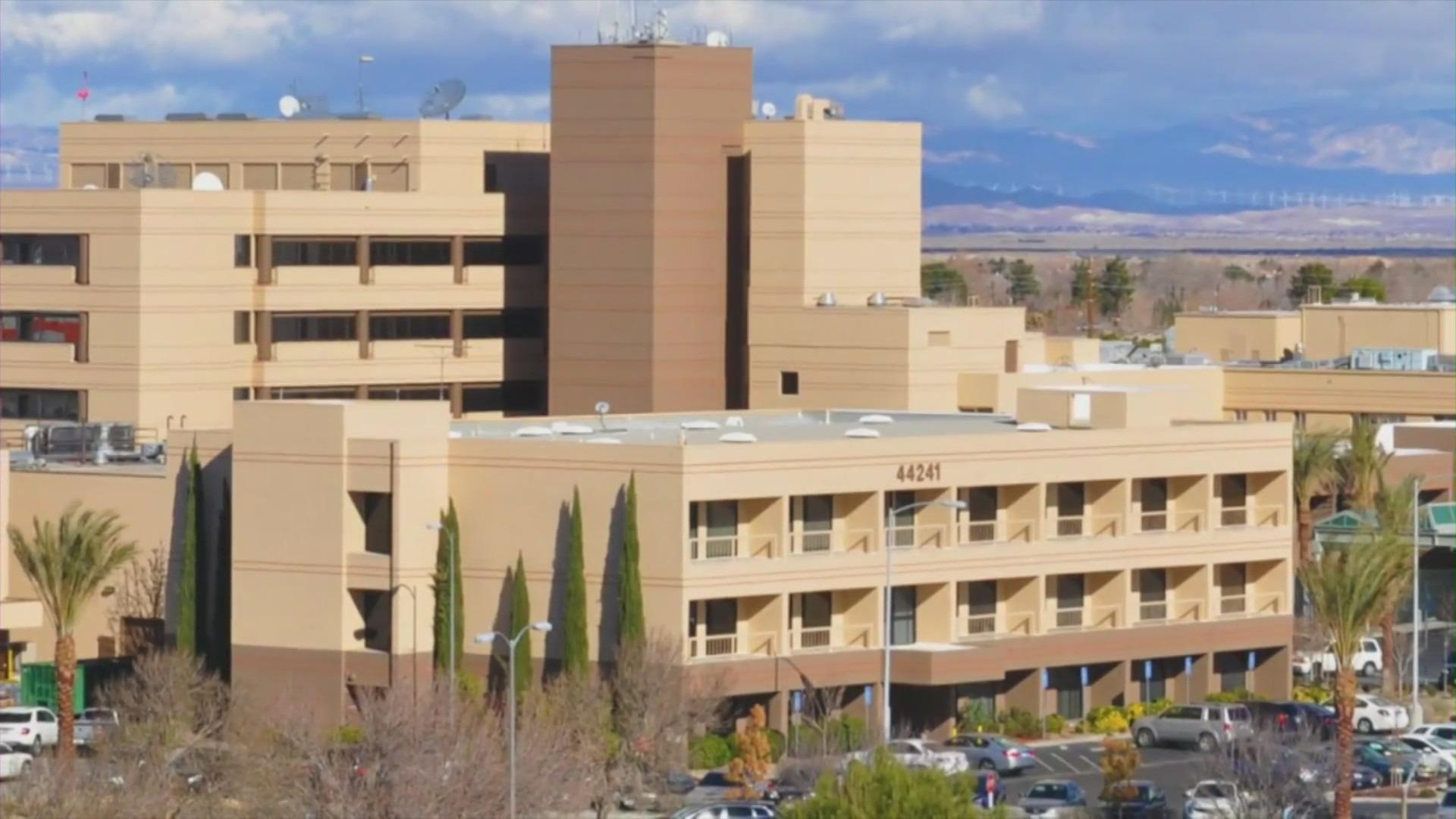 Antelope Valley Hospital in Lancaster is seen in a file photo. (KTLA)