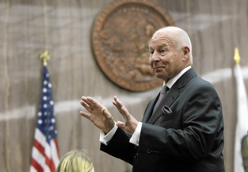 Thomas Girardi is seen at an undated court hearing. (Irfan Khan / Los Angeles Times)