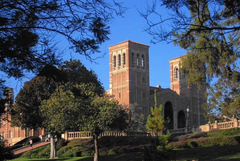 An undated file photo shows the UCLA campus. The UCLA Foundation has announced a $5-million gift for scholarships, COVID-19 emergency support, mental health services and other student needs. (Genaro Molina / Los Angeles Times)