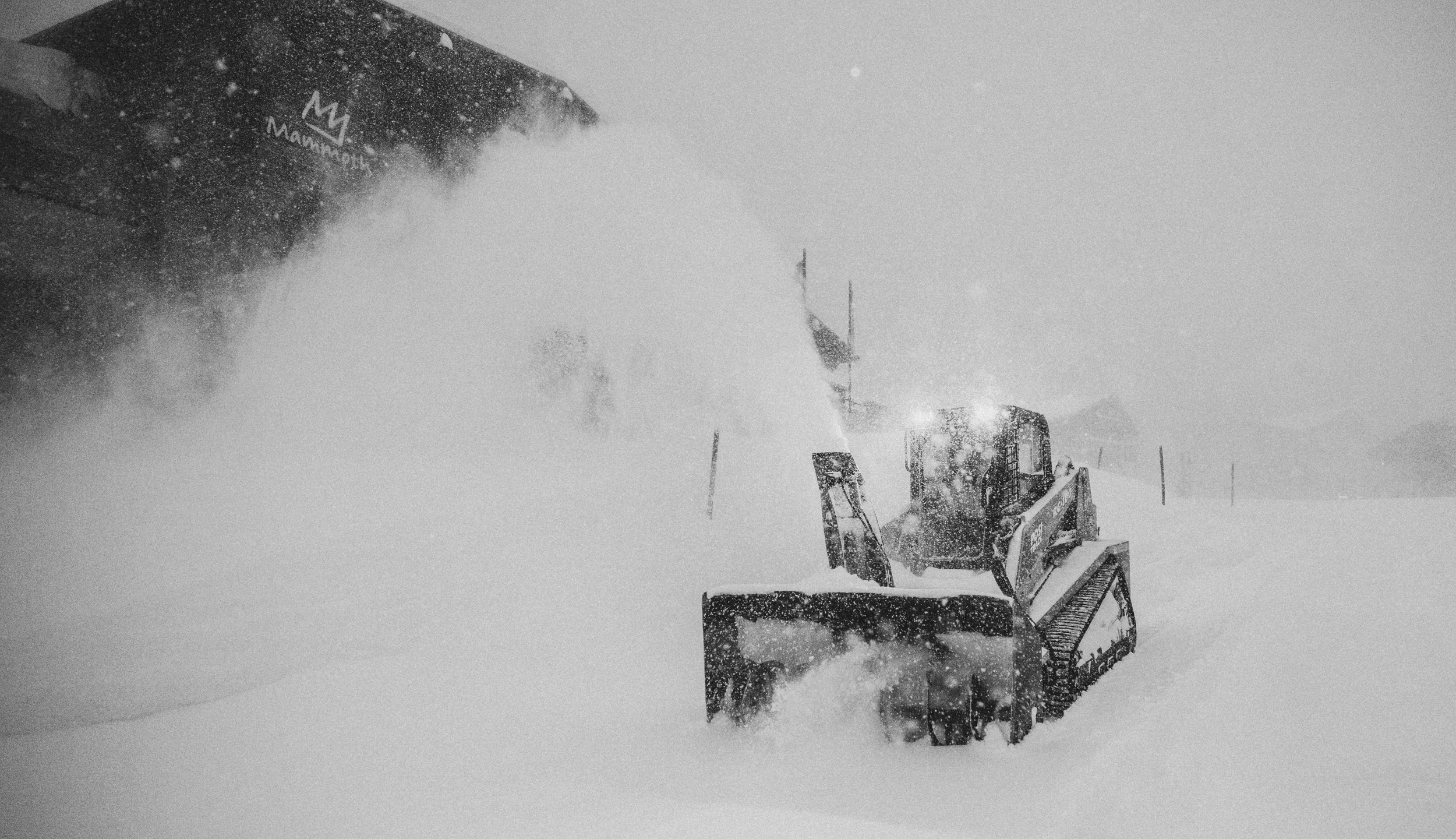 A storm dropped several feet of snow on Mammoth Mountain on Jan. 27, 2021. (Peter Morning / MMSA)