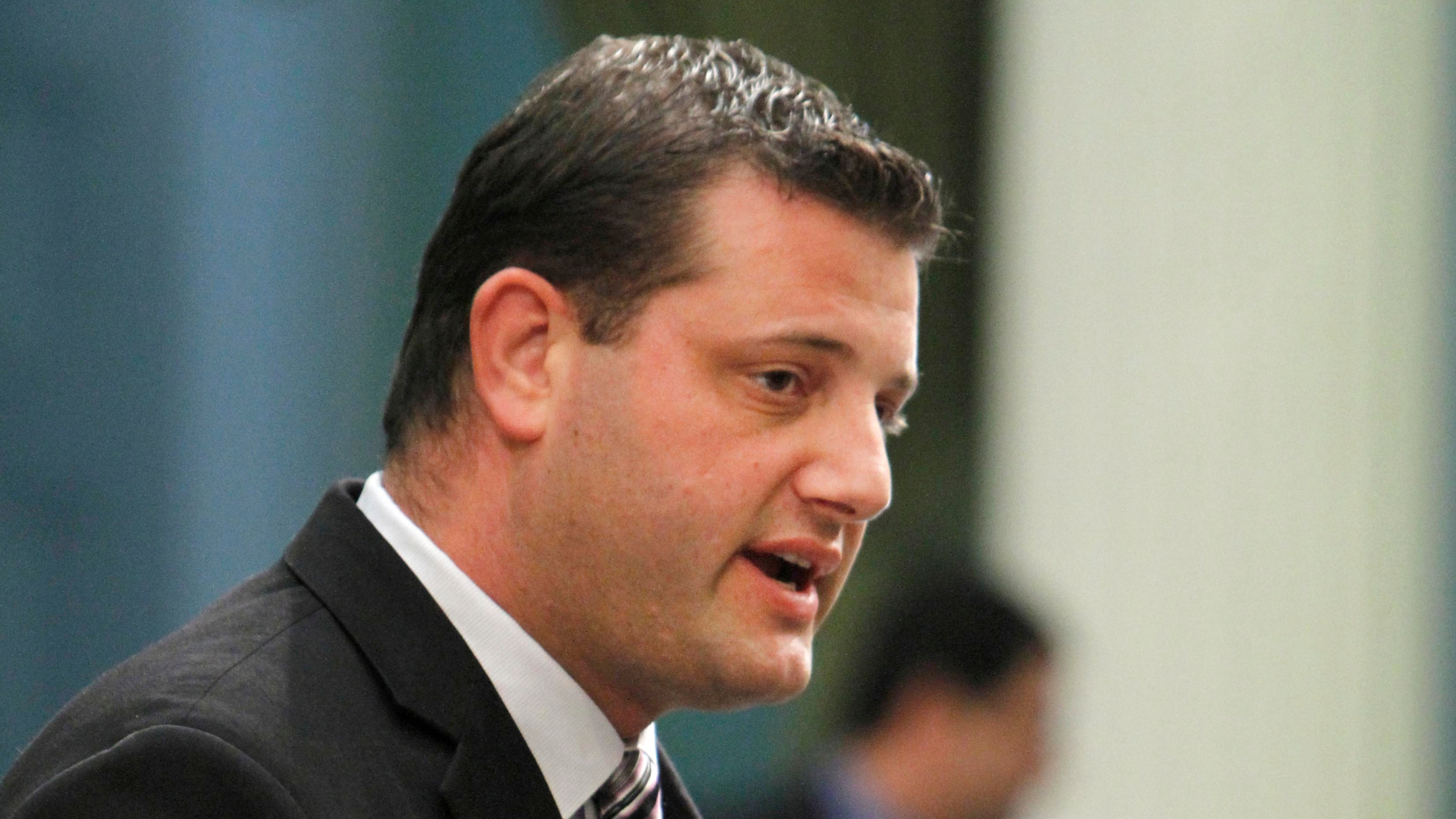 Then-California Assemblyman, now-Rep. David Valadao, R-Calif., speaks in Sacramento on July 5, 2012. (Rich Pedroncelli / Associated Press)