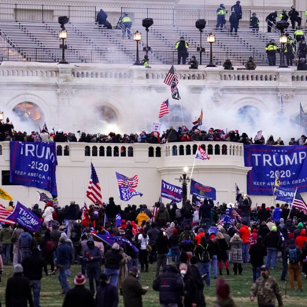 Protesters loyal to President Donald Trump, storm the Capitol, Wednesday, Jan. 6, 2021, in Washington. (AP Photo/John Minchillo)