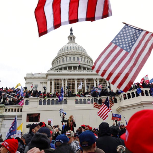 In this Jan. 6, 2021 file photo, supporters of President Donald Trump gather outside the U.S. Capitol in Washington. (Photo/Shafkat Anowar/Associated Press)