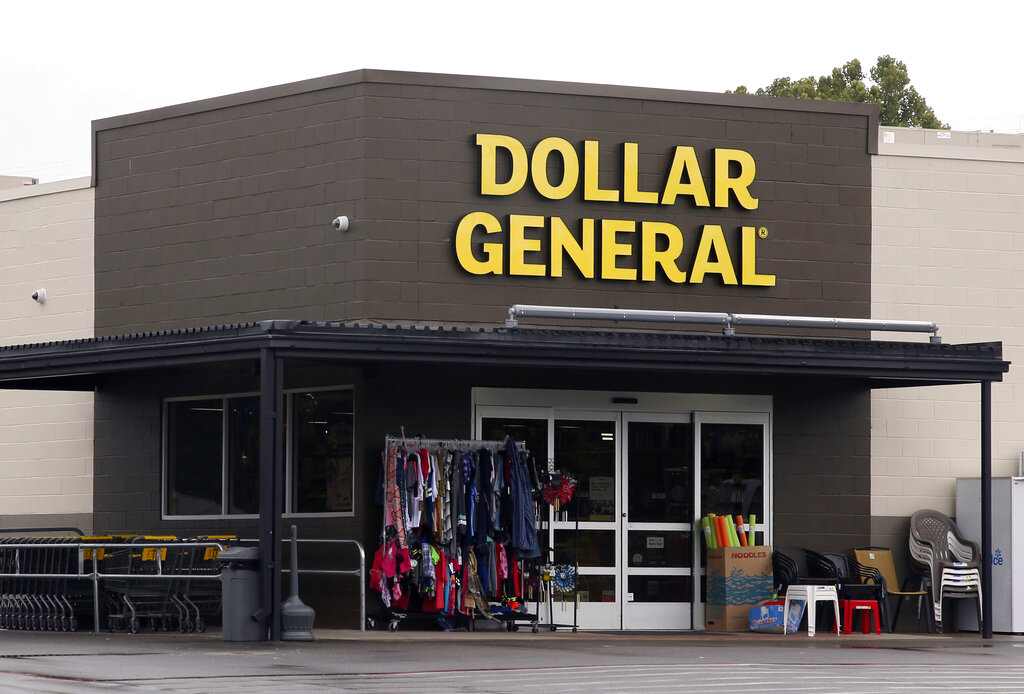 In this Aug. 3, 2017, file photo the Dollar General store is pictured in Luther, Okla. (AP Photo/Sue Ogrocki, File)
