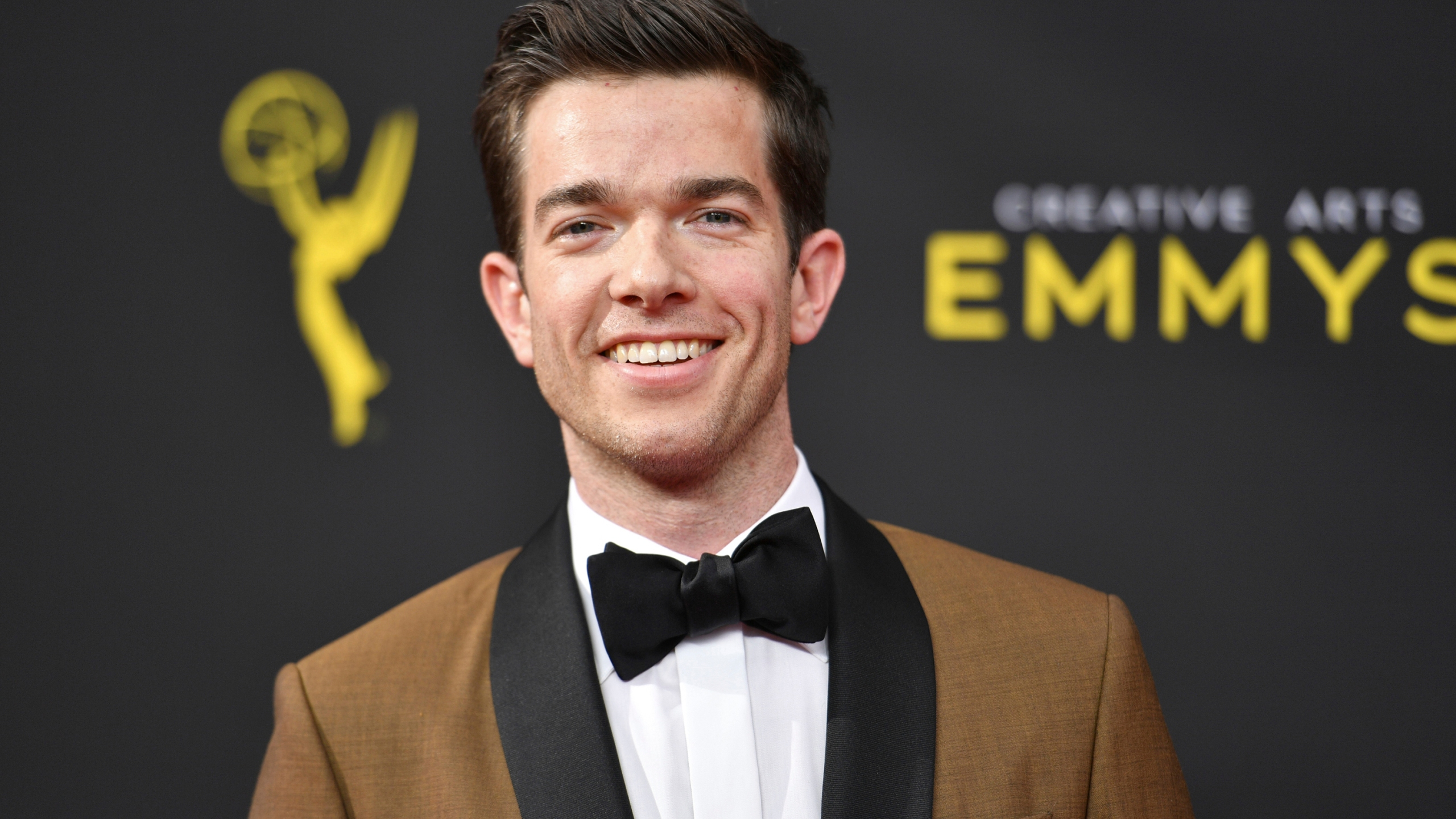 "John Mulaney arrives at night one of the Creative Arts Emmy Awards on Sept. 14, 2019, in Los Angeles. A file obtained by The Associated Press shows the U.S. Secret Service investigated John Mulaney, but found no wrongdoing in a joke the comedian made on ""Saturday Night Live"" in February 2020. (Photo by Richard Shotwell/Invision/AP, File)"