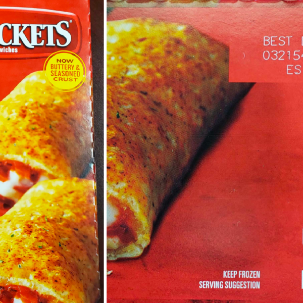Recalled Nestlé pepperoni hot pockets packaging seen in undated photos released by the U.S. Department of Agriculture's Food Safety and Inspection Service on Jan. 15, 2021.