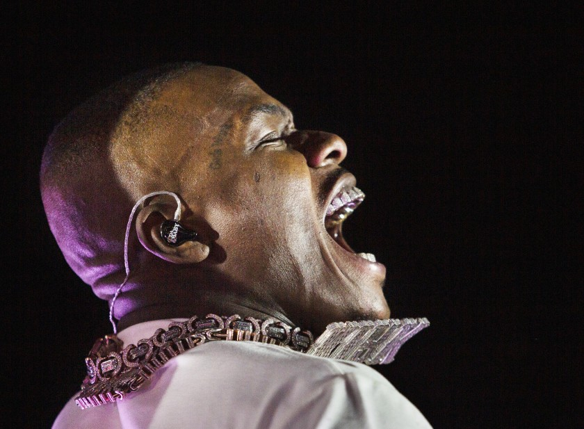 Rapper DaBaby, born Jonathan Kirk, is shown in this undated photo. (Gabriella Angotti-Jones / Los Angeles Times)