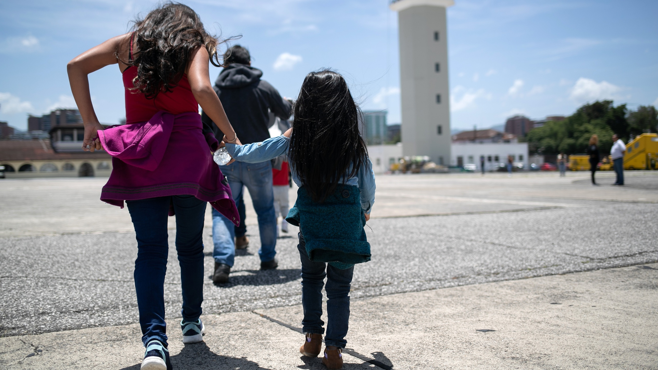 Guatemalan youth arrive on an ICE deportation flight from Brownsville, Texas, to Guatemala City on Aug. 29, 2019. (John Moore / Getty Images)
