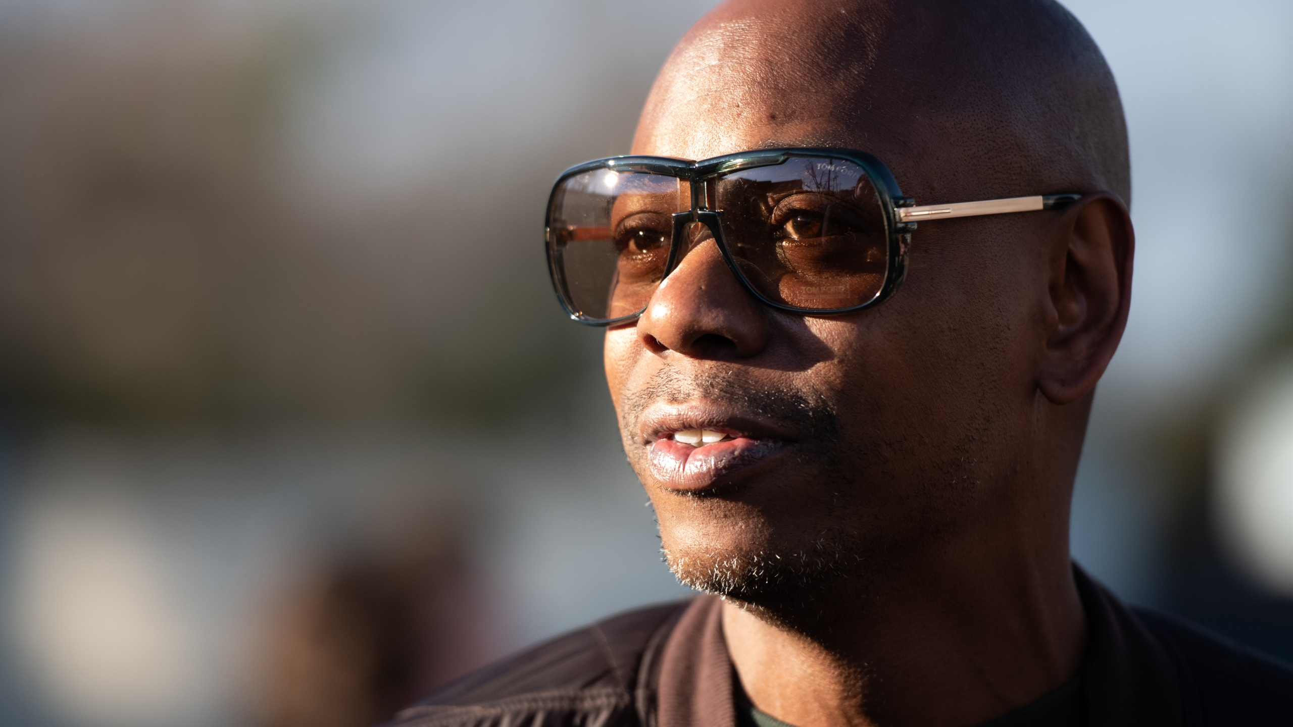 Comedian Dave Chappelle campaigns for Democratic presidential candidate Andrew Yang on Jan. 30, 2020 in North Charleston, South Carolina. (Sean Rayford/Getty Images)