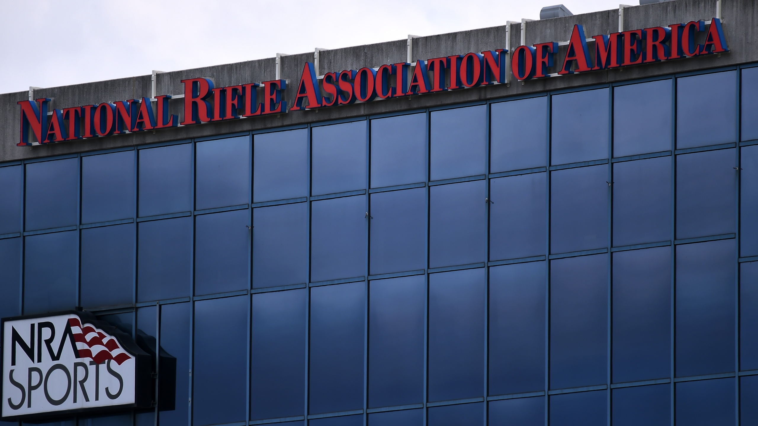 The National Rifle Association of America (NRA) headquarters on Aug. 6, 2020. (OLIVIER DOULIERY/AFP via Getty Images)
