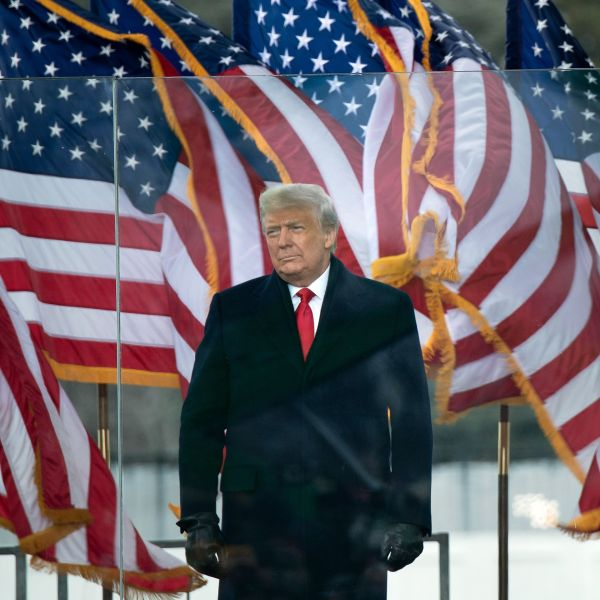 President Donald Trump arrives to speak to supporters from The Ellipse near the White House on Jan. 6, 2021. (BRENDAN SMIALOWSKI/AFP via Getty Images)