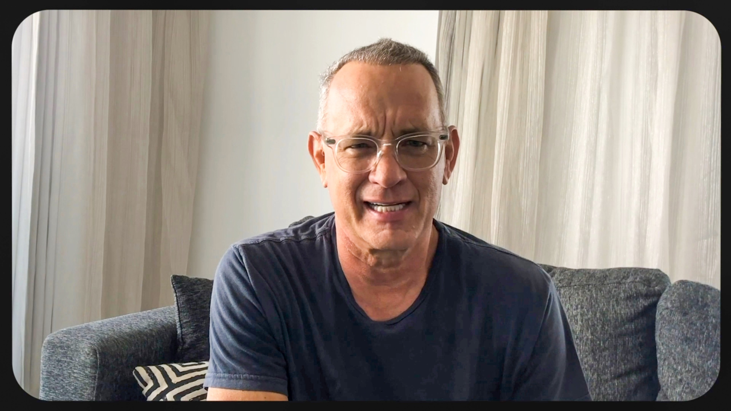 In this screengrab Tom Hanks appears during the 2020 Carousel of Hope Ball benefiting the Children's Diabetes Foundation on October 10, 2020. (Getty Images/Getty Images for Children's Diabetes Foundation )