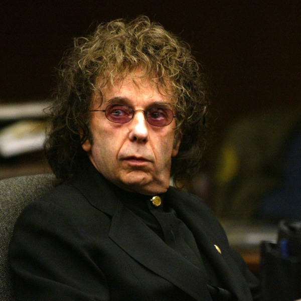 Music producer Phil Spector attends an evidentiary hearing in Alhambra Municipal Court February 17, 2004. (Nick Ut - Pool via Getty Images)