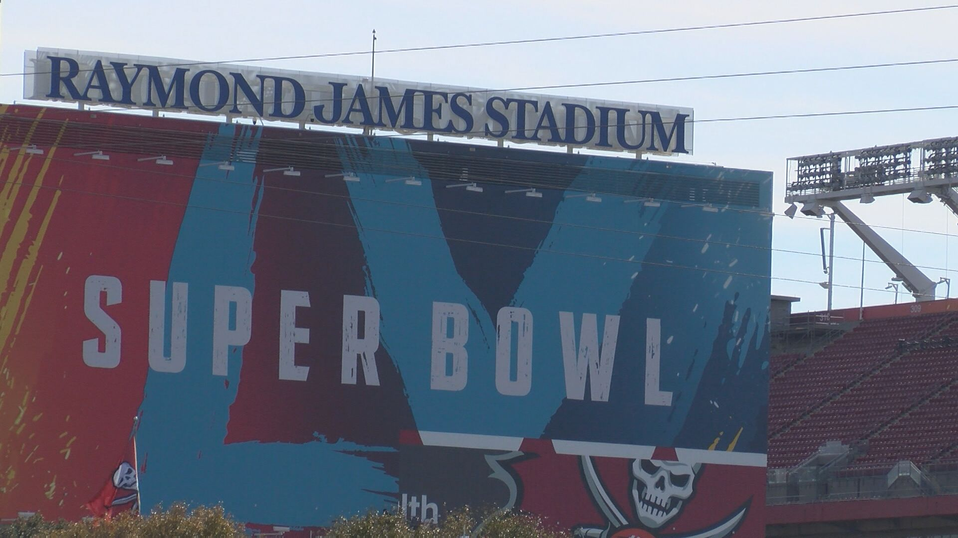 Raymond James Stadium in Tampa, Florida, site of Super Bowl LV. (WFLA)