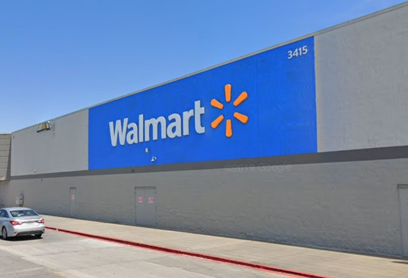 The Walmart off Highway 14 in Lake Charles, Louisiana, is seen in a Google Maps image.
