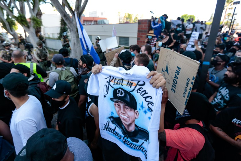 The fatal shooting of Andres Guardado by a Los Angeles County sheriff's deputy drew national attention and weeks of protests. (Jason Armond / Los Angeles Times)