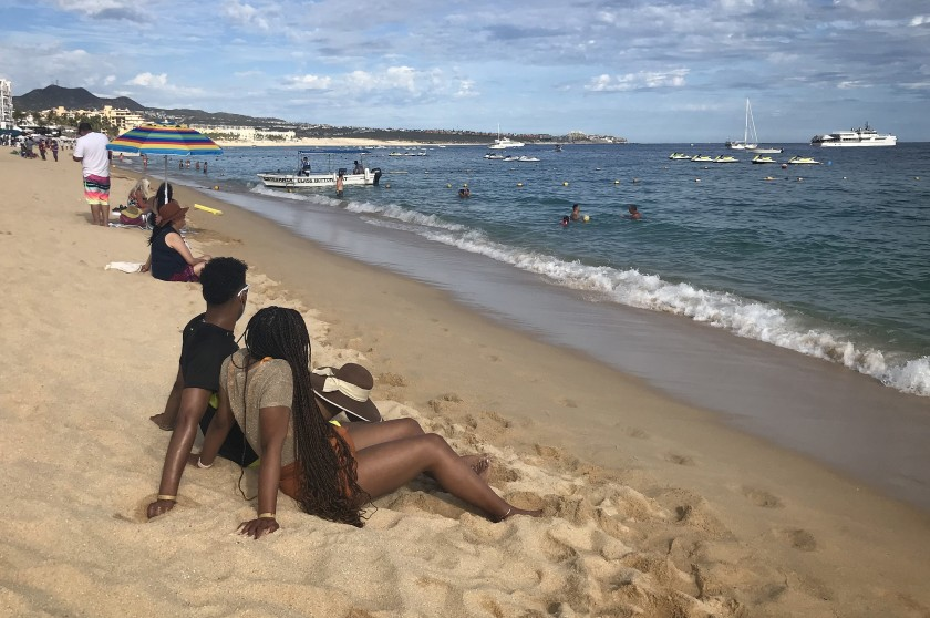 Brandon Harris and Kirsten Jackson traveled from Houston to Los Cabos, Mexico, in December.(Kate Linthicum / Los Angeles Times)