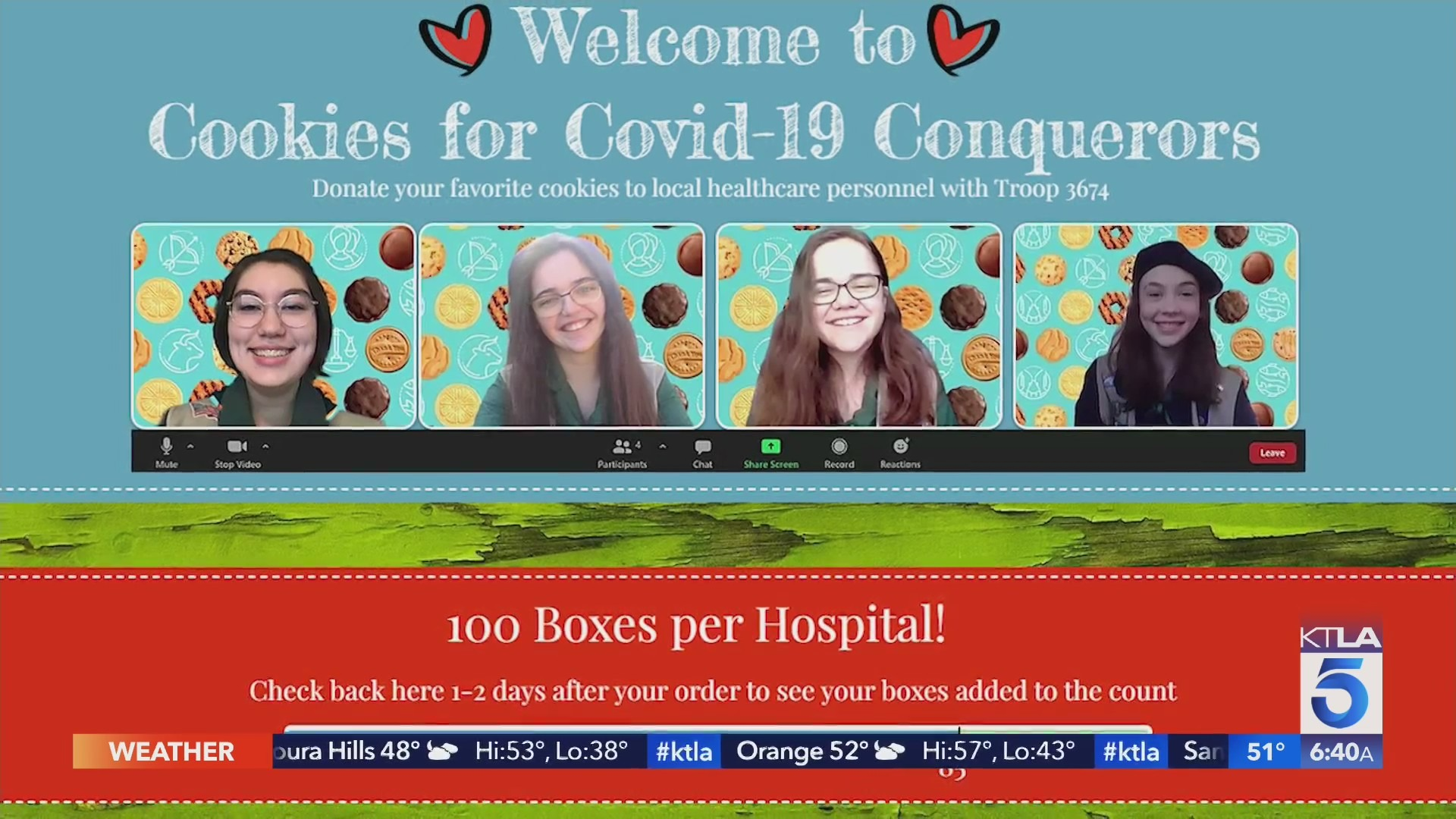 Cookies for COVID-19 Conquerors sends Girl Scout cookies to health care workers