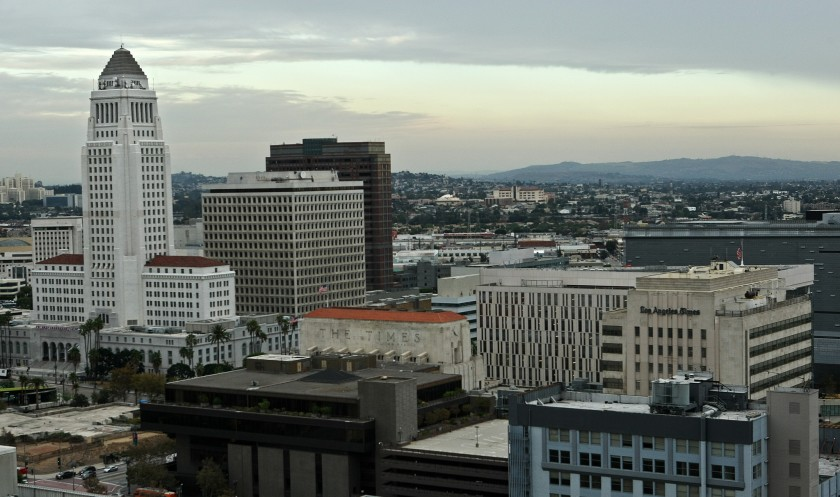 Downtown Los Angeles is shown in this undated file photo. (Los Angeles Times)