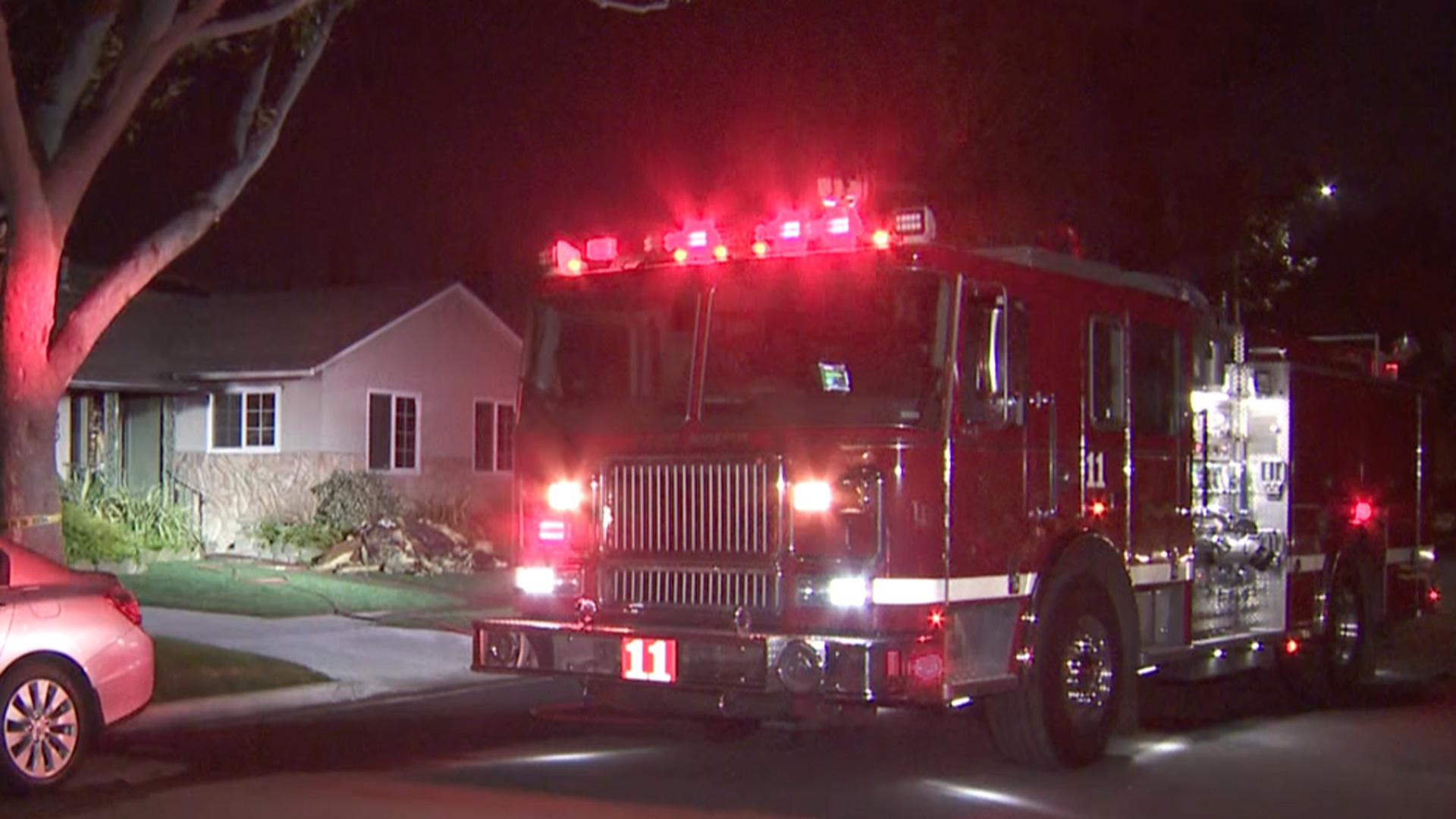 An 80-year-old man died when a fire broke out at home in Long Beach on Jan. 13, 2021. (KTLA)