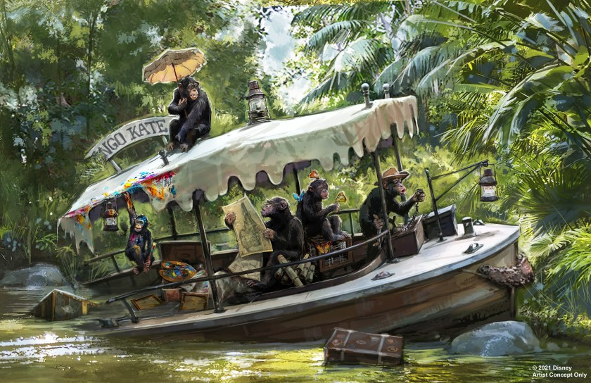 Concept art for updates coming to the Jungle Cruise attraction at Disneyland and Florida's Walt Disney World. (Walt Disney Imagineering via L.A. Times)
