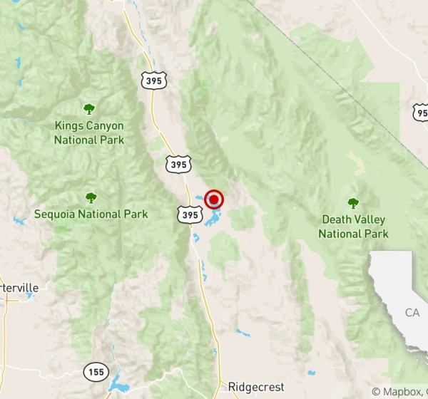 A magnitude 3.4 quake was reported 58 miles from Ridgecrest early morning on Jan. 2, 2020. (U.S. Geological Survey)