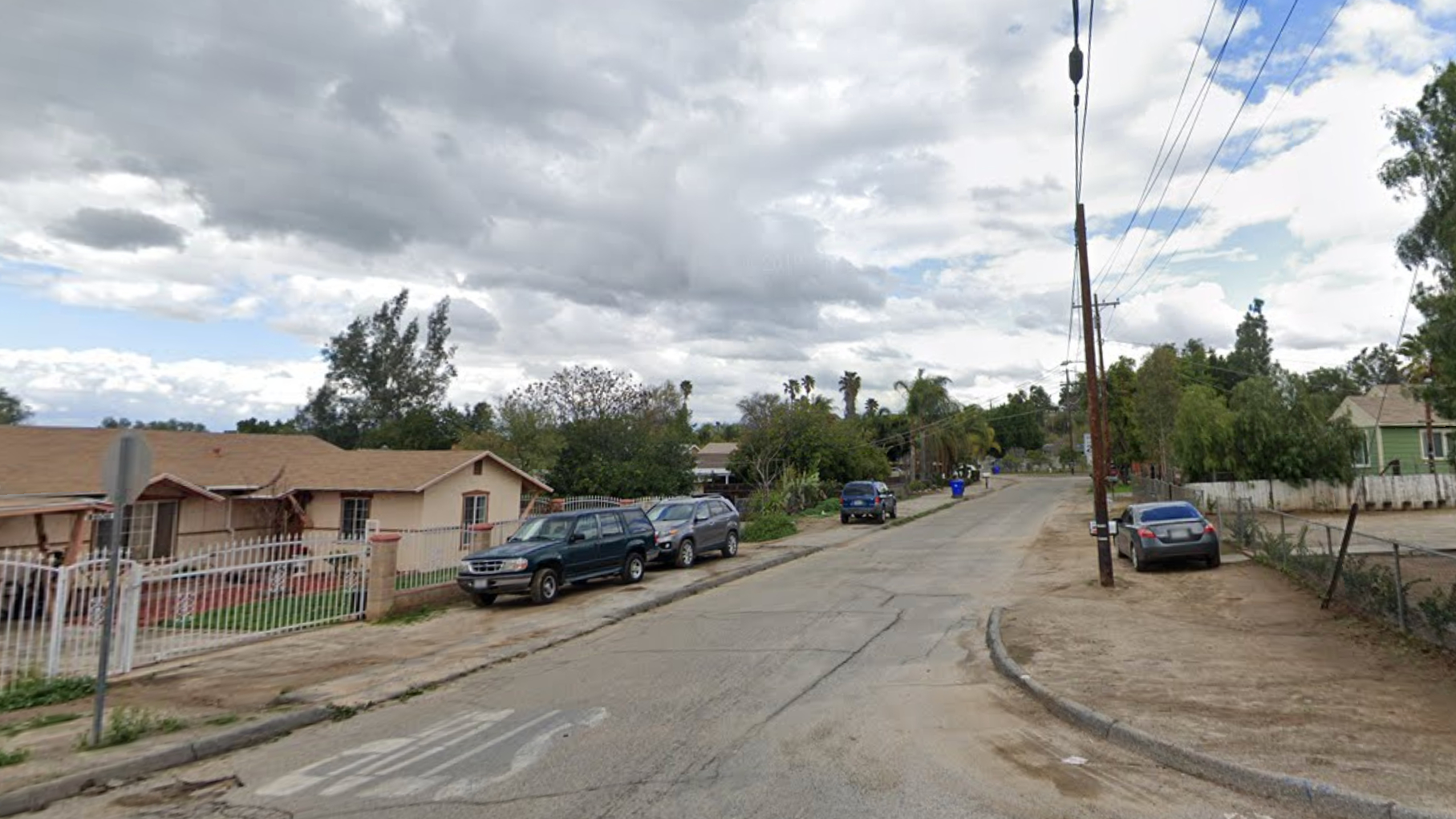 The 4600 block of Tomlinson Avenue in Riverside is seen in a Google Maps Street View image.