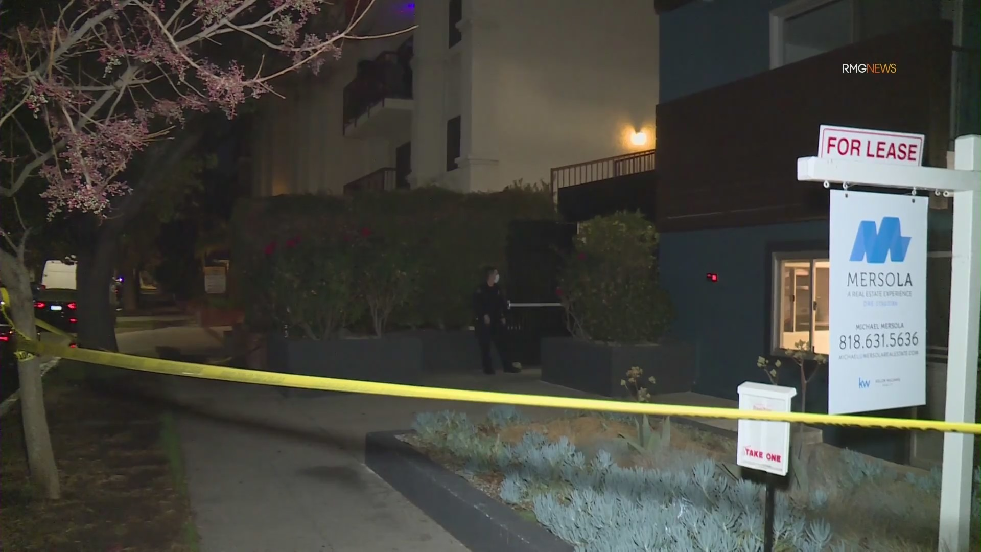 Police investigate a fatal shooting in Burbank on Jan. 26, 2021. (RMG News)