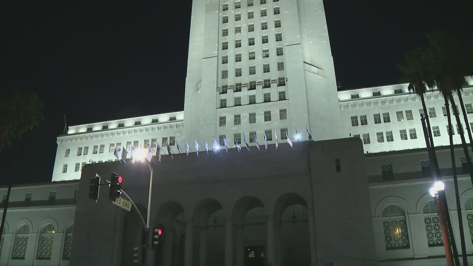 City Hall in downtown Los Angeles is seen in this file image. (KTLA)